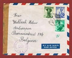Luftpostbrief 14/10/1952 Nach Belgien 3.20 Sch - 1945-60 Briefe U. Dokumente