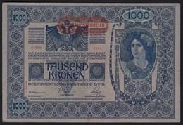 Österreich - Austria 1000 Kronen Banknote 1919 (1902) Pick 60 Gutes VF (19826 - Austria