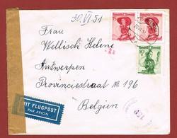 Luftpostbrief 28/6/1951 Nach Belgien 2.20 Sch - 1945-60 Briefe U. Dokumente