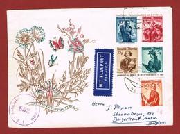 Kinderdorf Ballonpostbrief  Mit ZuF Als Luftpostbrief 17/5/1951 Nach Belgien 2.20 Sch - 1945-60 Briefe U. Dokumente