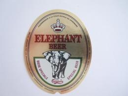 Label Etiquette Bier Bière Beer Carlsberg Elephant Beer Brewed Denmark Distribuée France - Bière