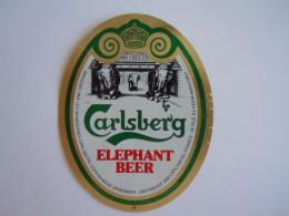 Label Etiquette Bier Bière Beer Carlsberg Elephant Beer Brewed Denmark France - Bière