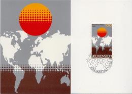 Liechtenstein Stamp On Maximum Card - Geography