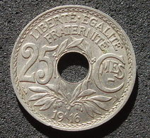 Pièce De 25 Centimes 1916 à Trou - France