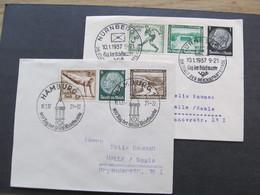 DR Nr. 609 + 611, 1938, 2x Brief, Tag Der Briefmarke Hamburg *DEL2039* - Briefe U. Dokumente