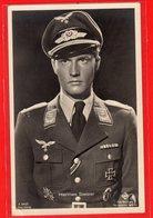 AK Photokarte Schlachtflieger Und Schauspieler Hannes Stelzer - Guerra 1939-45