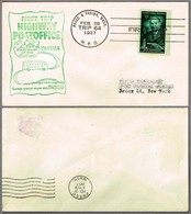 FIRST TRIP Highway Post Office: PASCO & YAKIMA 1957 - Correo Postal