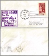 FIRST TRIP Highway Post Office: CONNELLSVILLE, PA & CHARLESTON WV 31 Marzo 1955 - Correo Postal