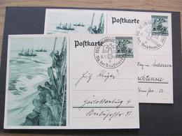 DR Ganzsache Nr. P 288 2x, 1938, Tag Der Briefmarke *DEL2041* - Germany