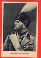Propagandakarte Duce Benito Mussolini Sonderstempel 1937 - Deutschland