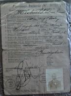Eenzelvigheidsbewijs    Michiels  Edward Edmond  Geb . 1864 Antwerpen - Geboorte & Doop
