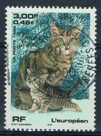 France, European, Breed Of Cat, 1999, VFU  Superb Postmark - France