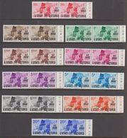 "Katanga 1960 ""Onafhankelijkheid"" Opdruk 10w (paar) ** Mnh (40998A) 50c Verschoven Opdruk - Katanga"