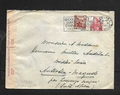 GENEVE 1 EXP. LETTRES 22 XI 1943 > Magude, Mozambique, German & S.African Censor Labels, LOURENCO MARQUES Transit, - Covers & Documents