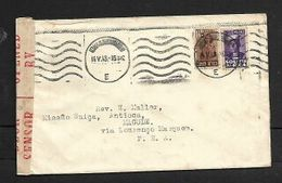 3 1/2d Cover JOHANNESBURG 14.V.43  S.African Censor Labels LOURENCO MARQUES Transit, - South Africa (...-1961)
