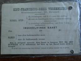 Kaart Uitgereikt 1914  Société De Saint- François - Régis - Religión & Esoterismo