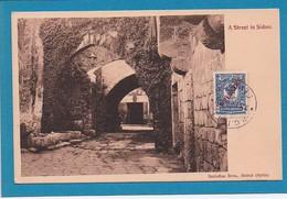 Liban Lebanon SIDON Saida Street Rue Sarrafian Bros Beirut Beyrouth Syria Syrie Timbre Russe 1913 Surcharge 1 Piastre - Lebanon