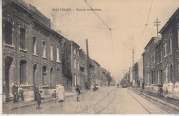 Châtelet - Rue De La Station - Animé - Tram - Edit. Préaux, Ghlin - Châtelet