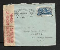 3d Cover BRAKPAN  19 SEP 42,> Magude, Mozambique. S.African Censor Label,  RESSANO GARCIA 21.9..42, Transit, - South Africa (...-1961)