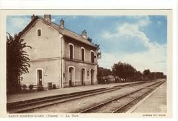 Carte Postale Ancienne Saint Martin L'Ars - La Gare - Chemin De Fer - Autres Communes