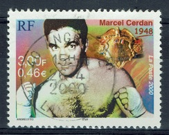 France, Marcel Cerdan, French Boxing Champion, 2000, VFU  Superb Postmark - France