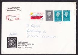 Netherlands: Registered Cover, 1995, 3 Stamps & Frama ATM Machine Label, R-label Enschede (traces Of Use) - Brieven En Documenten