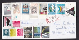 Netherlands: Registered Cover To Germany, 1993, 16 Stamps, R-label Aalsmeer Machineweg (roughly Opened) - Period 1980-... (Beatrix)