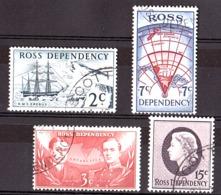 Terre De Ross - 1967 - N° 5 à 8 Oblitérés - Antarctique - Ross Dependency (New Zealand)