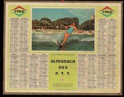 Calendrier Almanach Des P.T.T De 1960 - Région Nord Avec Plans De Lille Et Des Voies De Chemins De Fer - Calendriers