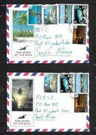French Polynesia, 2 Pictorial Air Mail Envelopes PAPEETE TAHITI  C.d.s. 1982 > S.Africa - French Polynesia