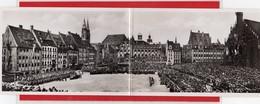 AK Photodoppelkarte Propaganda Aufmarsch Reichsparteitag Nürnberg 1937 - Guerra 1939-45