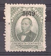"""Mexique - 1877/82 - N° 66 Avec """"3079"""" En Surcharge - Neuf (*) - Benito Juarez - Mexique"""