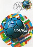 CP Premier Jour éditée Pour La Coupe Du Monde 1998 - Calcio