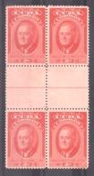 Cuba - 1947 - N° 298 En Bloc De 4 Avec Pont - Neufs ** - F.D. Roosevelt - Cuba