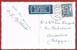 Postkarte Luftpost  Wien Flughafen  - Belgien 2.00 Sch. - Posta Aerea