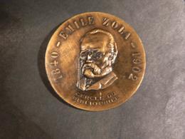Médaille - Emile Zola - Cercle Du Bibliophile - Diamètre 5.5cm - 50g - Other