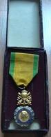 Médaille Valeur Et Discipline 1870 Dans Sa Boite - Medals