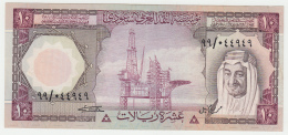 Saudi Arabia 10 Riyals 1977 XF+ Pick 18 - Arabie Saoudite
