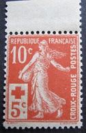 R1692/113 - 1914 - TYPE SEMEUSE - CROIX ROUGE - N°147a BdF NEUF** - Cote : 130,00 € - France
