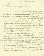 1814 COMMERCE COLONIES GUYANNE  MORUE POTASSE DE TOSCANE HUILE  LETTRE Par VVE GREGOIRE FILS Le Havre POUR GIOAN Frère - Manuscrits