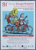 Margerin - Lucien Ricky Et Georges Brassens - Depliant Promo 4 Pages - Non Classés