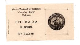 Ticket Entrée  Musée Muséo Valencia Céramica - Tickets - Entradas