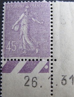 R1692/116 - 1931 - TYPE SEMEUSE - N°197 CdF Daté NEUF** - Unused Stamps