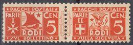 RODI (occupazione ITALIA) - 1934 - Francobolli Per Pacchi, Nuovi MNH: Unificato 1. - Egeo (Rodi)