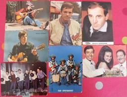 Lot D'images Photos Pub Chanteurs Yéyé Variétés Années 60. Long Chris Aznavour Alamo Célibataires Spotnicks Machucambos - Old Paper