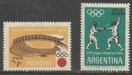 Argentina - 1964 Tokyo Olympics MNH *   Sc B45-6 - Unused Stamps