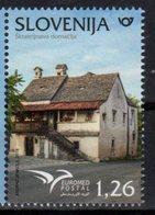 SLOVENIA, 2018, MNH, EUROMED, HOMES, HOUSES, 1v - Architecture