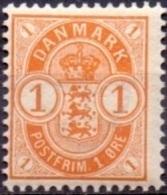DENEMARKEN 1895-02 1öre Wapentype Tanding 12¾ PF-MNH - Nuovi