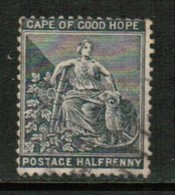CAPE Of GOOD HOPE  Scott # 332 F-VF USED (Stamp Scan # 425) - South Africa (...-1961)