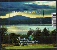 SLOVENIA, 2018, MNH,MOUNTAINS, LAKES, PARKS, KRAJINSKI PARKS, S/SHEET - Geography